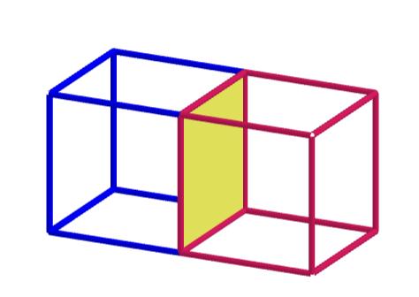 két kocka együtt