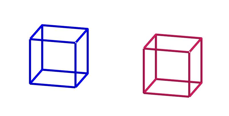 két kocka külön